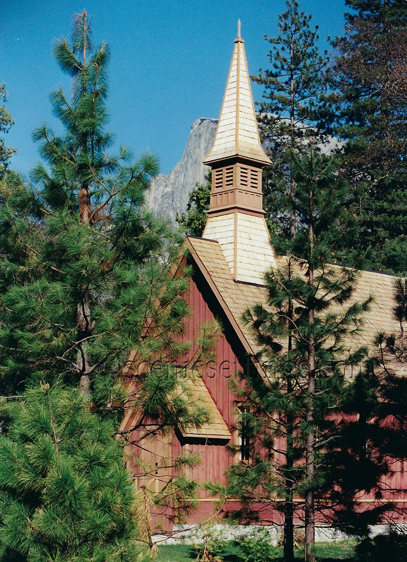Church Against Half Dome