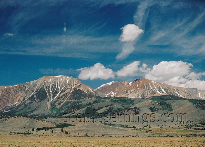 """Eastern Sierra"" Mid-Morning view of the Eastern Sierra Nevada Slopes"