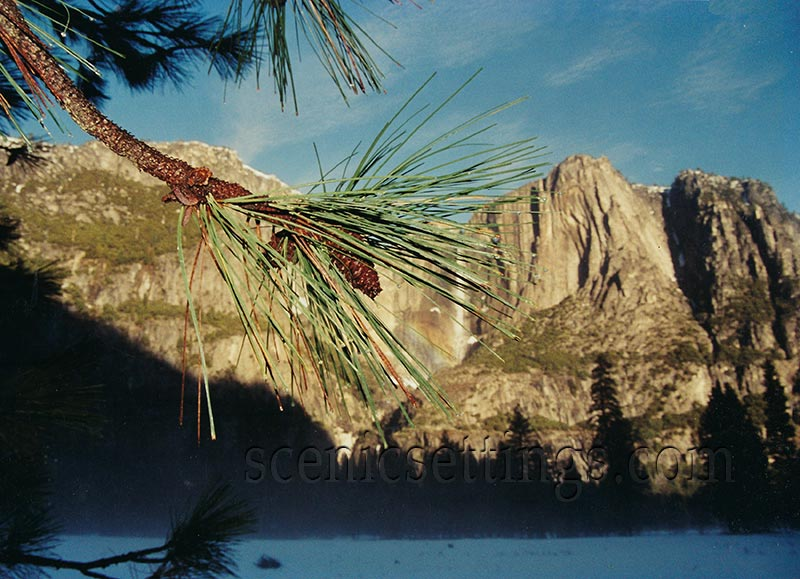 Needles and Cone with Yosemite Falls
